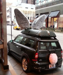 easter bunny car magnificent mile chicago